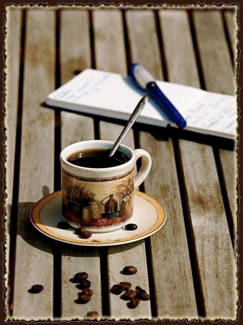 Кофе на даче.