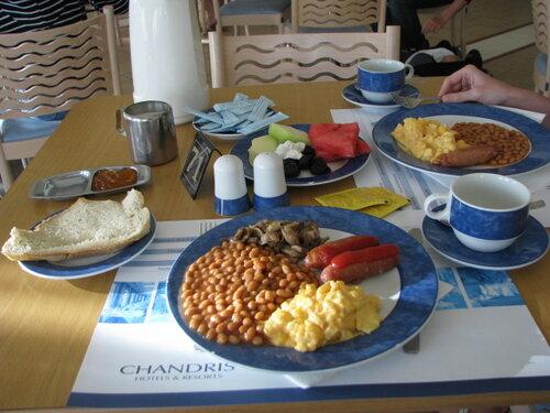 Корфу  Чандрис.  Завтрак