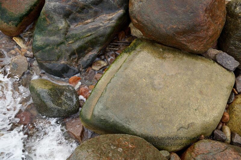 Остатки бетонных плит в море. Светлогорск-Rauschen