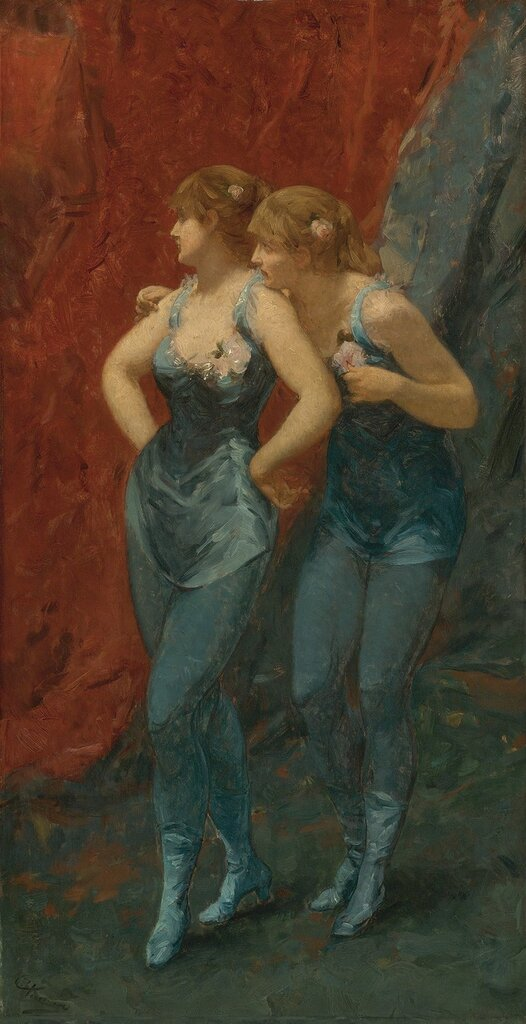 Charles Hermans, 1839-1924. Две танцовщицы. 65.4 х 34.2 см..jpg