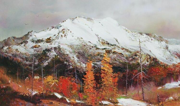 Константин Дружин. Осень в горах.