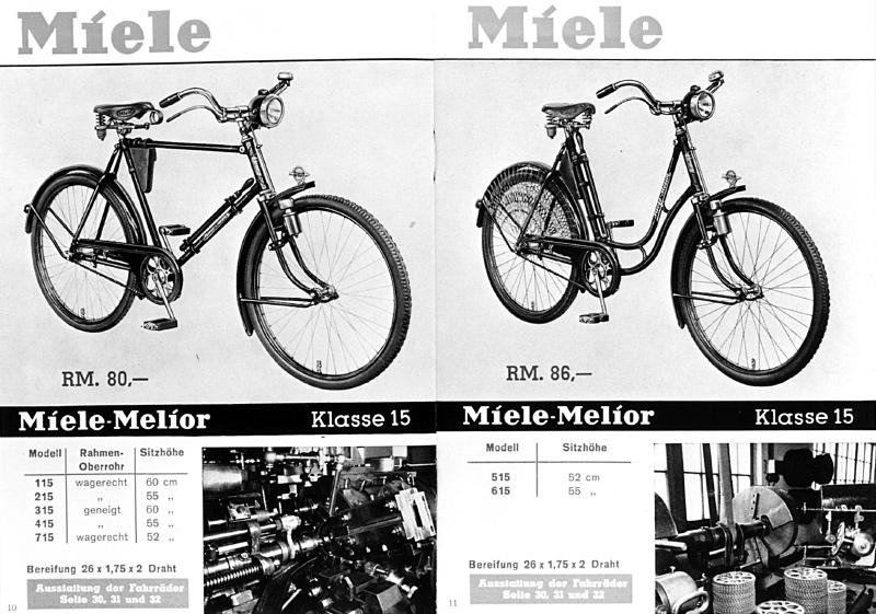 ТТХ и фото велосипедов MIele Klasse 10-20