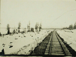 Вид части железнодорожного полотна от станции Танхой к станции Кедровой