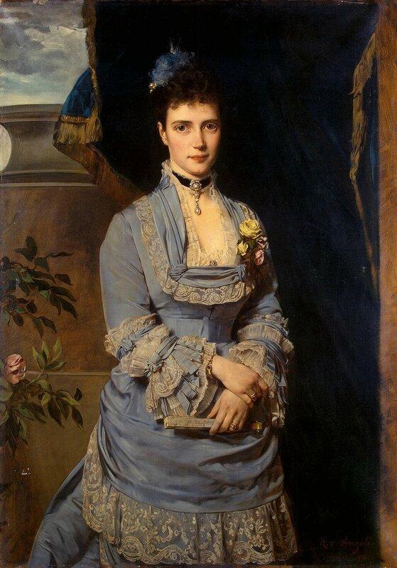 Maria Fyodorovna of Russia by H. von Angeli (1874, Hermitage)