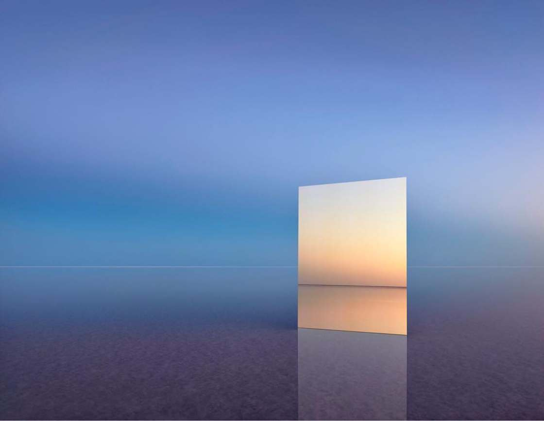 Vanity - Photographing a huge mirror in surreal landscapes