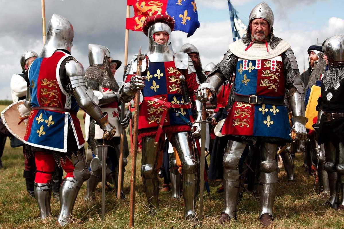 Эпизоды Столетней войны: Реконструкция битвы при Азенкуре в Северной Франции (4)