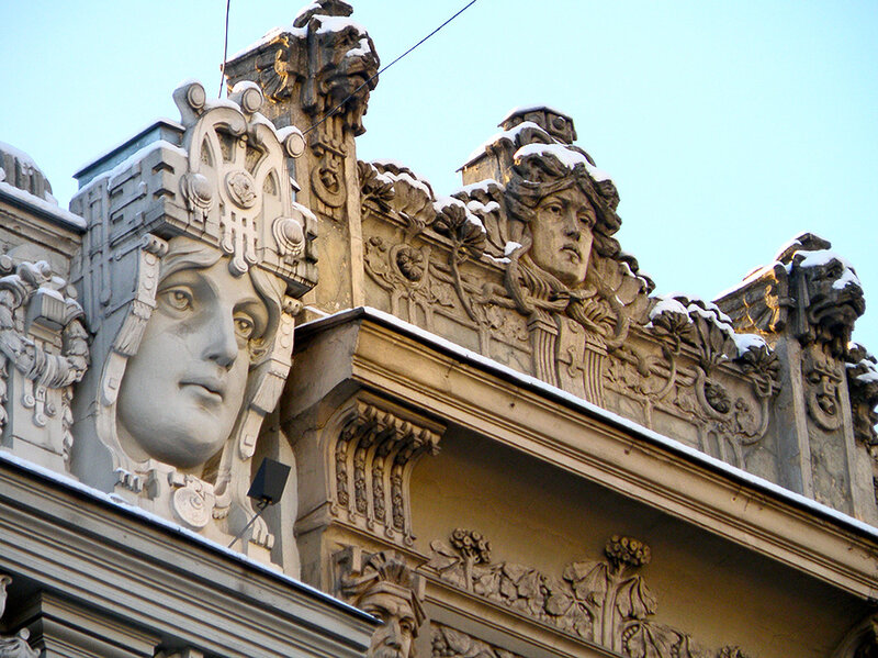 Рижский югенд, архитектор М.Эйзенштейн, ул. Элизабетес (Елизаветинская)