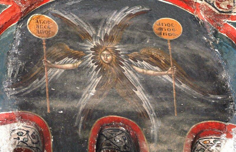 Ангел Господень. Фреска монастыря Грачаница, Косово, Сербия. Около 1320 года.