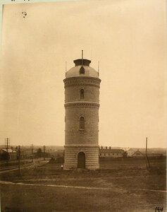 Вид на водонапорную башню у станции. Гродненская губ.Гродно ст.