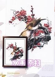 Журнал I love cross stitch ZXL-004 Zosterops Japonica