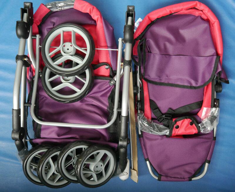 коляска для куклы Buggy Boom фиолетовая.jpg