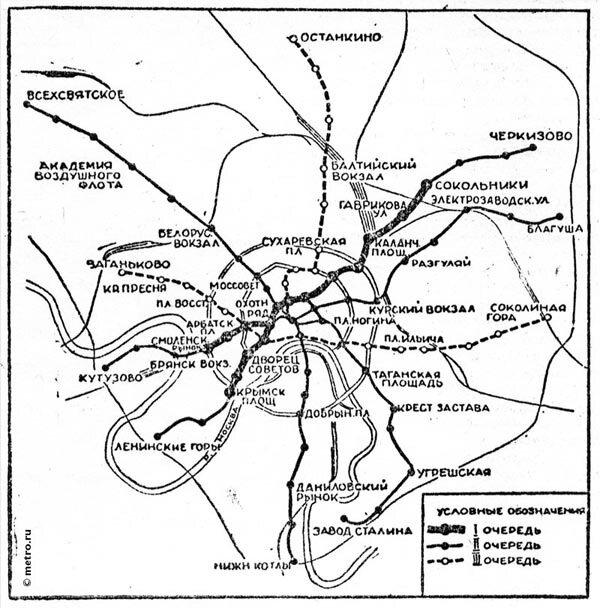 Форум Москва Просмотр изображения - Схема метро Москвы 1931.