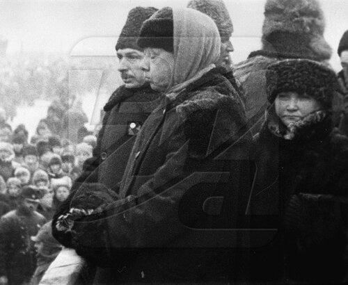 Надежда Константиновна на похоронах