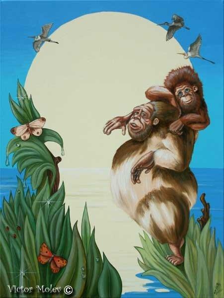 Чарлз Дарвин 45,5х60,5 см  Х.М.
