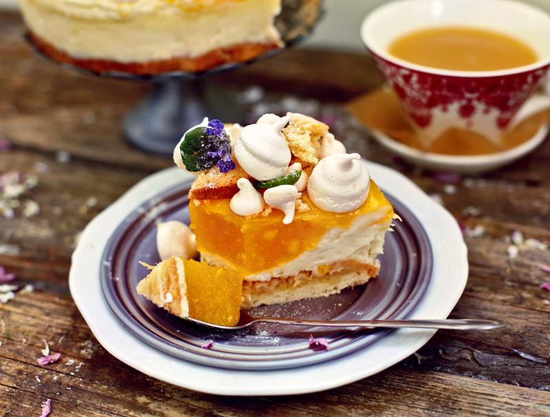 Торт Чизкейк с манго - пошаговый рецепт с фото #9.