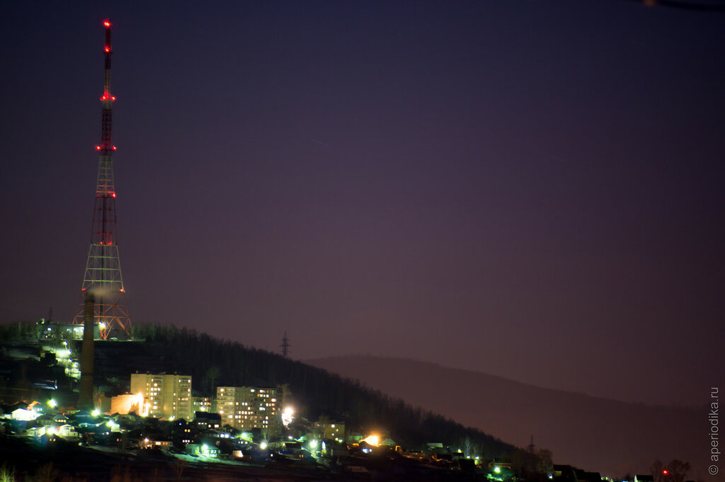 Златоуст. Ночной город