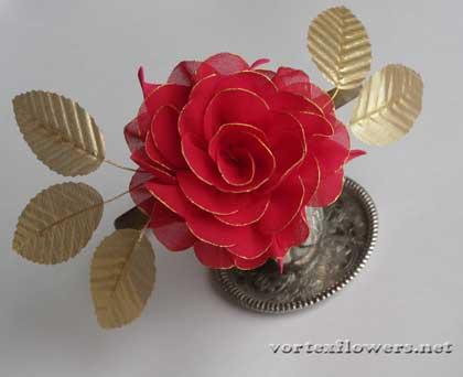 роза на ободке
