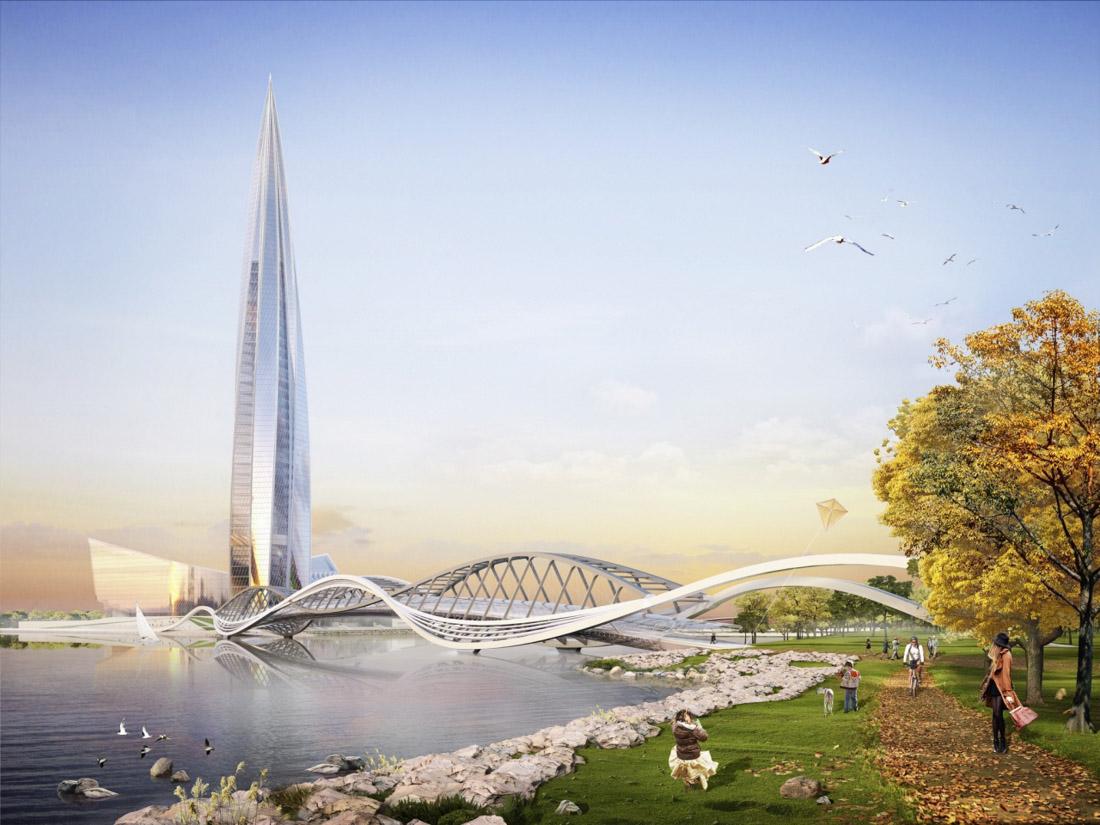 «Лахта центр» (Санкт-Петербург) — год окончания строительства — 2018-й, назван самым ожидаемым небос