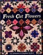 Книга Fresh cut flowers -   по пэчворку (Одеяло из цветочных блоков)