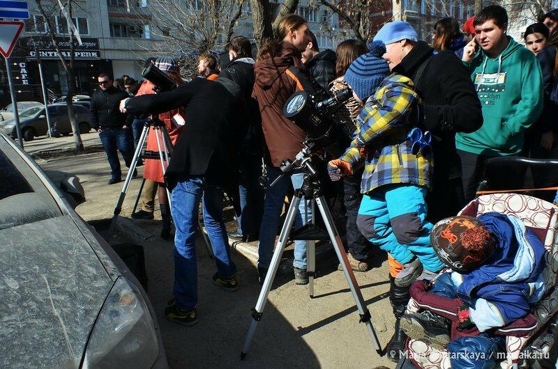 Солнечное затмение, Саратов, 20 марта 2015 года