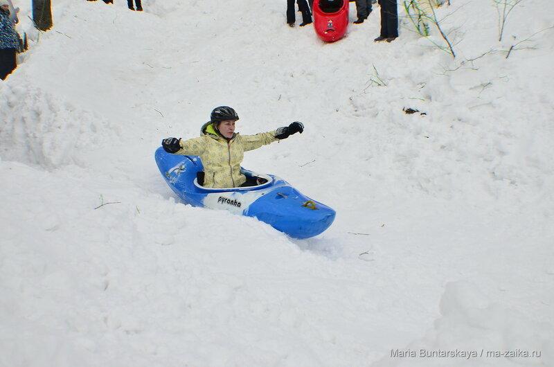 Snow kayaking, Саратов, Октябрьское ущелье, 31 января 2016 года
