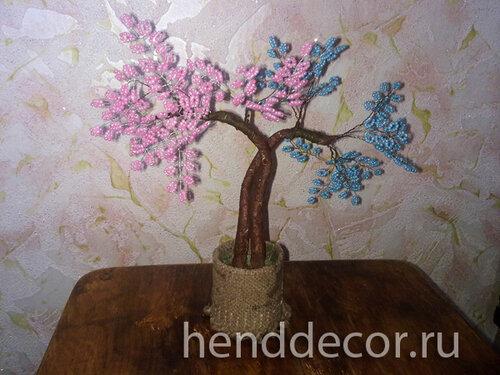 «Дерево любви» из бисера