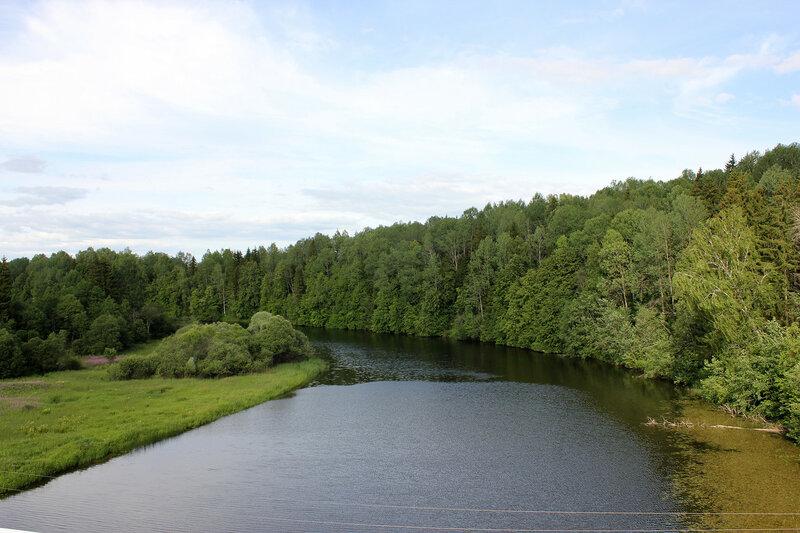 Река Осуга, перегон Осуга - Сычёвка, вид на восток, у платформы 168 км