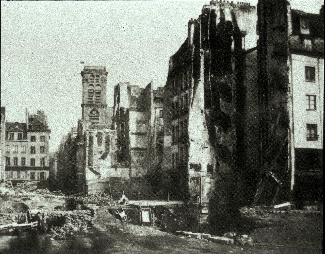 1853. Разрушение улицы Сен-Мартен