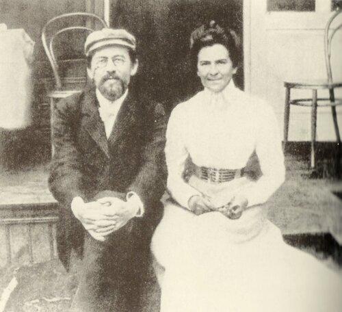 Чехов и Книппер в санатории (Аксёново Уфимской губернии)