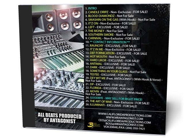 Biggy Jiggy Mixtapes Presents: Antagonist The Instrumentals - HD Studio Beats (2009)