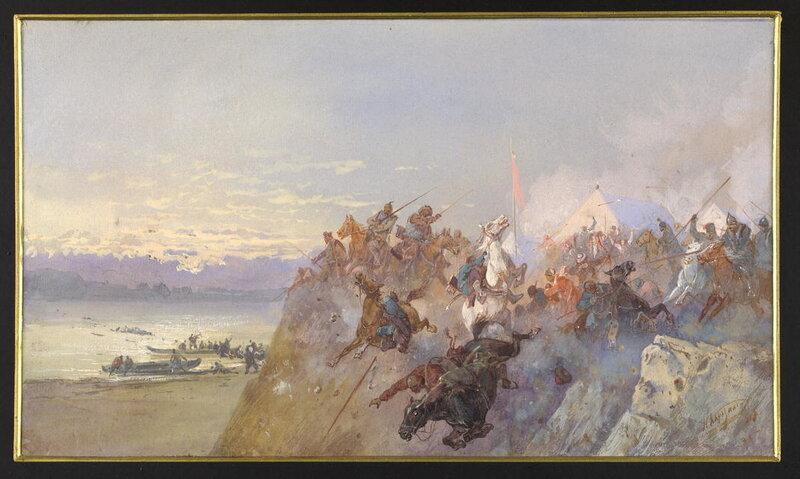 Последний кучумовский разгром 1598 года. Разгром войск сибирского хана Кучума на реке Ирмени