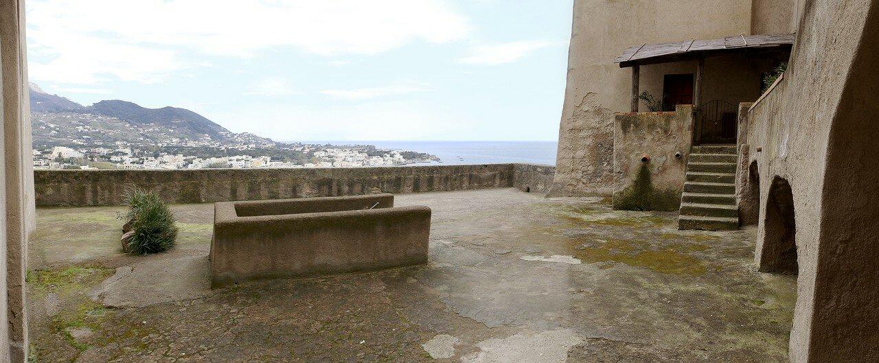 Ischia. The monastery terrace Aragonese castle (Brlvedere del convento)