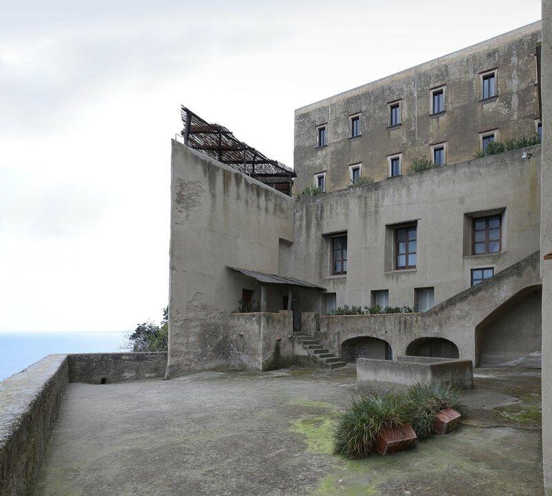 Ischia. Aragonese castle. Monastery of St. Mary of Consolation (Monastero di S. Maria della Consolazione)