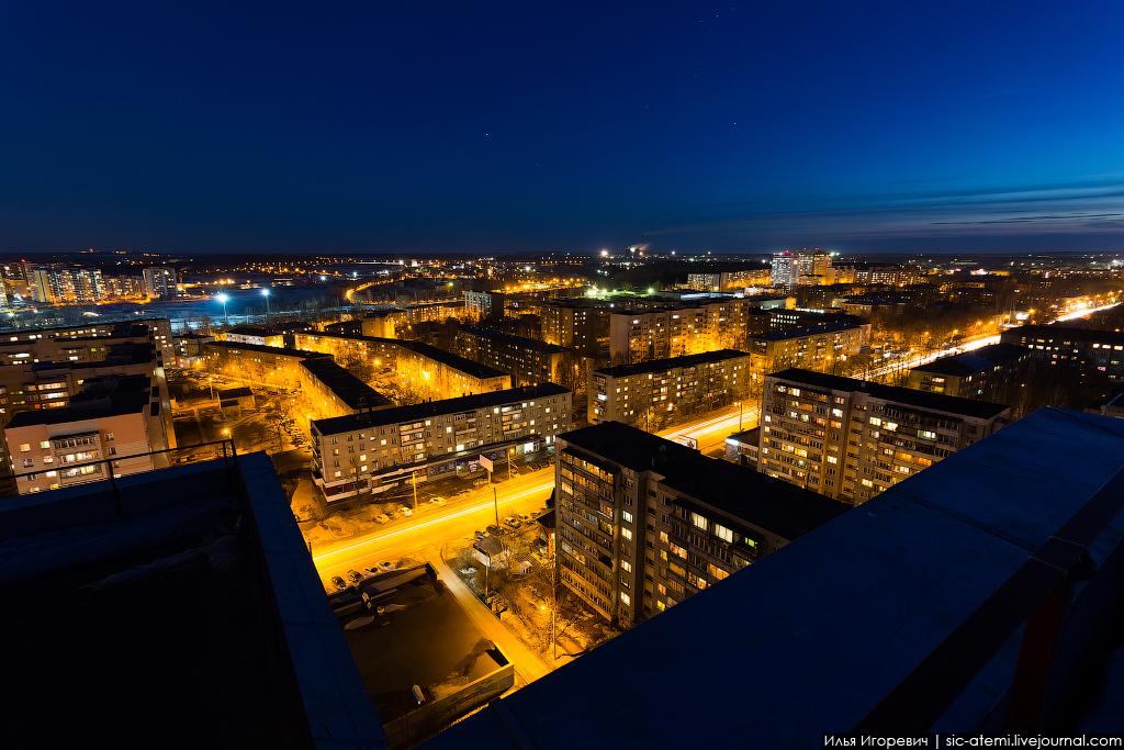 фото с крыши ночью щукино всей