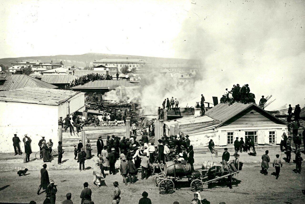 Пожар по ул. Песочной
