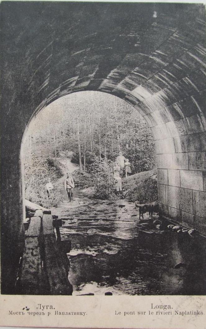 Окрестности Луги. Мост через реку Наплатинку