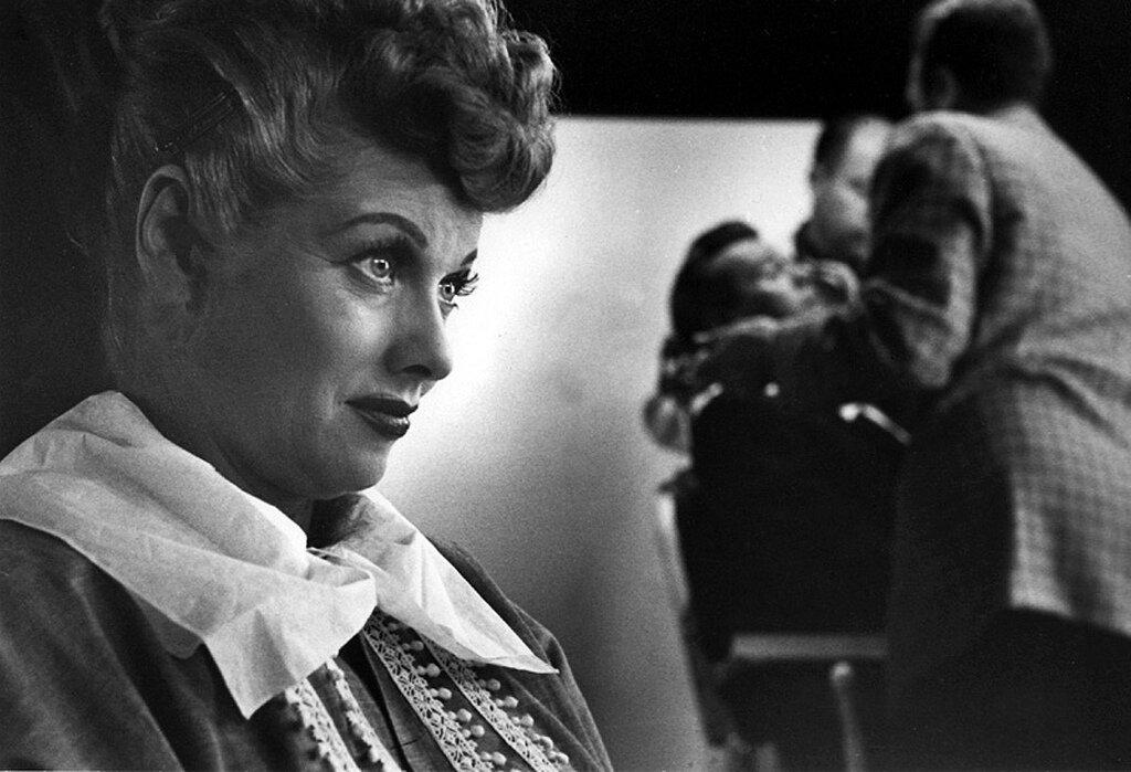 1950. Люсилль Болл  на съемках сериала «Я люблю Люси»