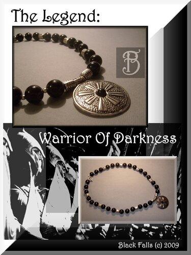 """The Legend: Warrior Of Darkness"" Beads & Pendant"