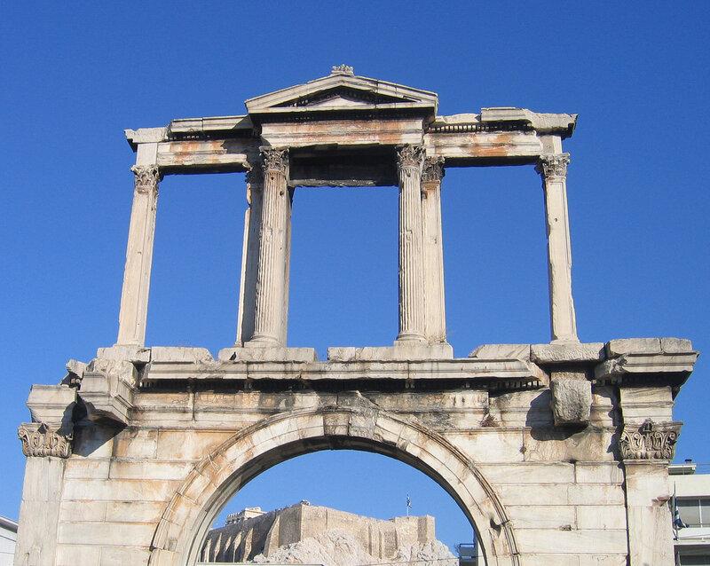 Акрополь сквозь Арку Адриана