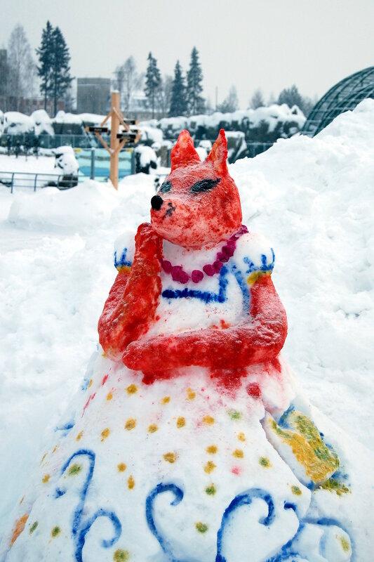 Конкурс снежных скульптур