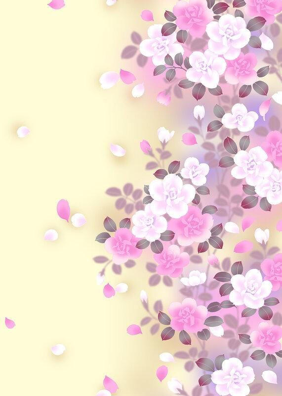 Цветы фон вертикальный 2