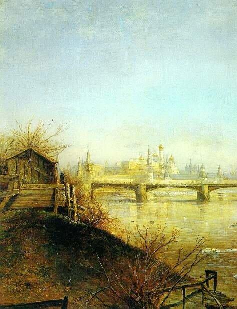 Саврасов. Вид на Кремль (1873)