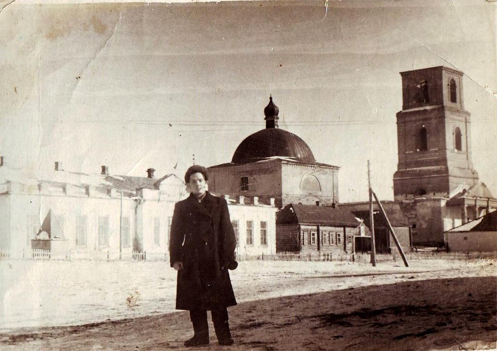 40-50 гды школа и церковь в селе Трескино