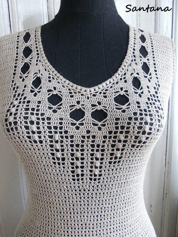 Платье в пол из льна (фрагмент 6)