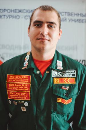 Работник штаба Воронежского ГАСУ Овсянкин Александр
