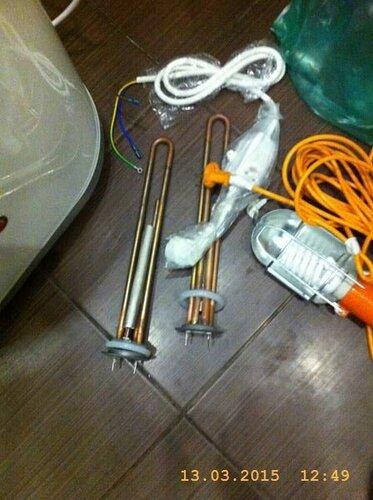 Купили новые тэны и электрошнур с УЗО