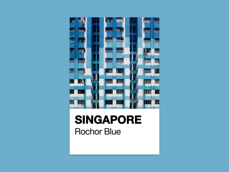 Singapore Through Pantone Cards