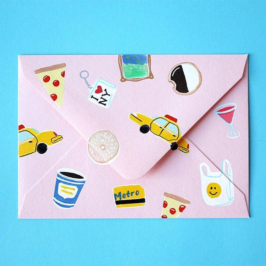Cute & Colorful Mail Illustrations by Lucy Mail