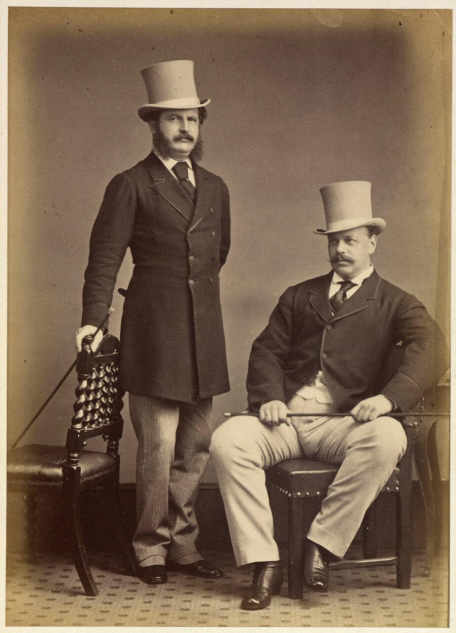 1873. Цесаревич Александр и майор Кристофер Чарльз Тисдейл