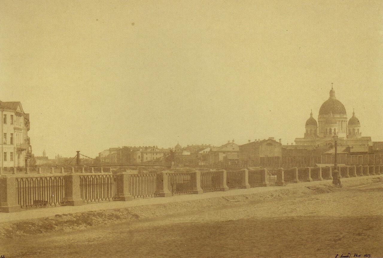 Вид на Троицкий собор с набережной Крюкова канала.1857